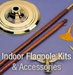 Indoor Flagpole Kits and Accessories